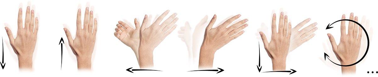 Swipe gesture control