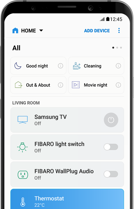 SmartThings aplicación