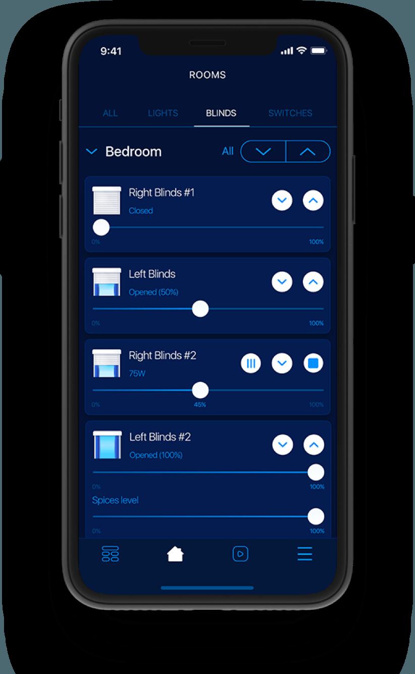 mobilní aplikace smart home