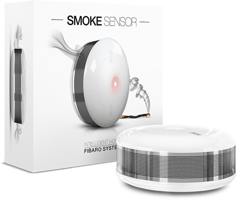 Smoke Sensor Flame And Smoke Detection Fibaro