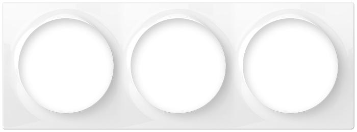 triple smart outlet frame