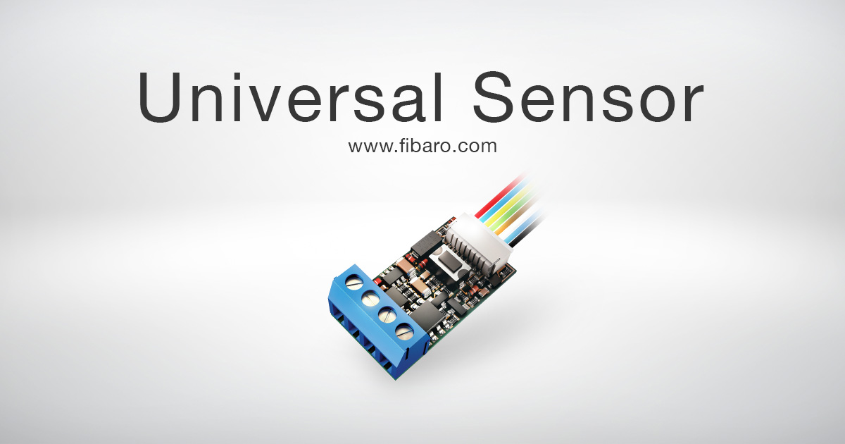 Universal Sensor Z Wave Tilkobling Fibaro