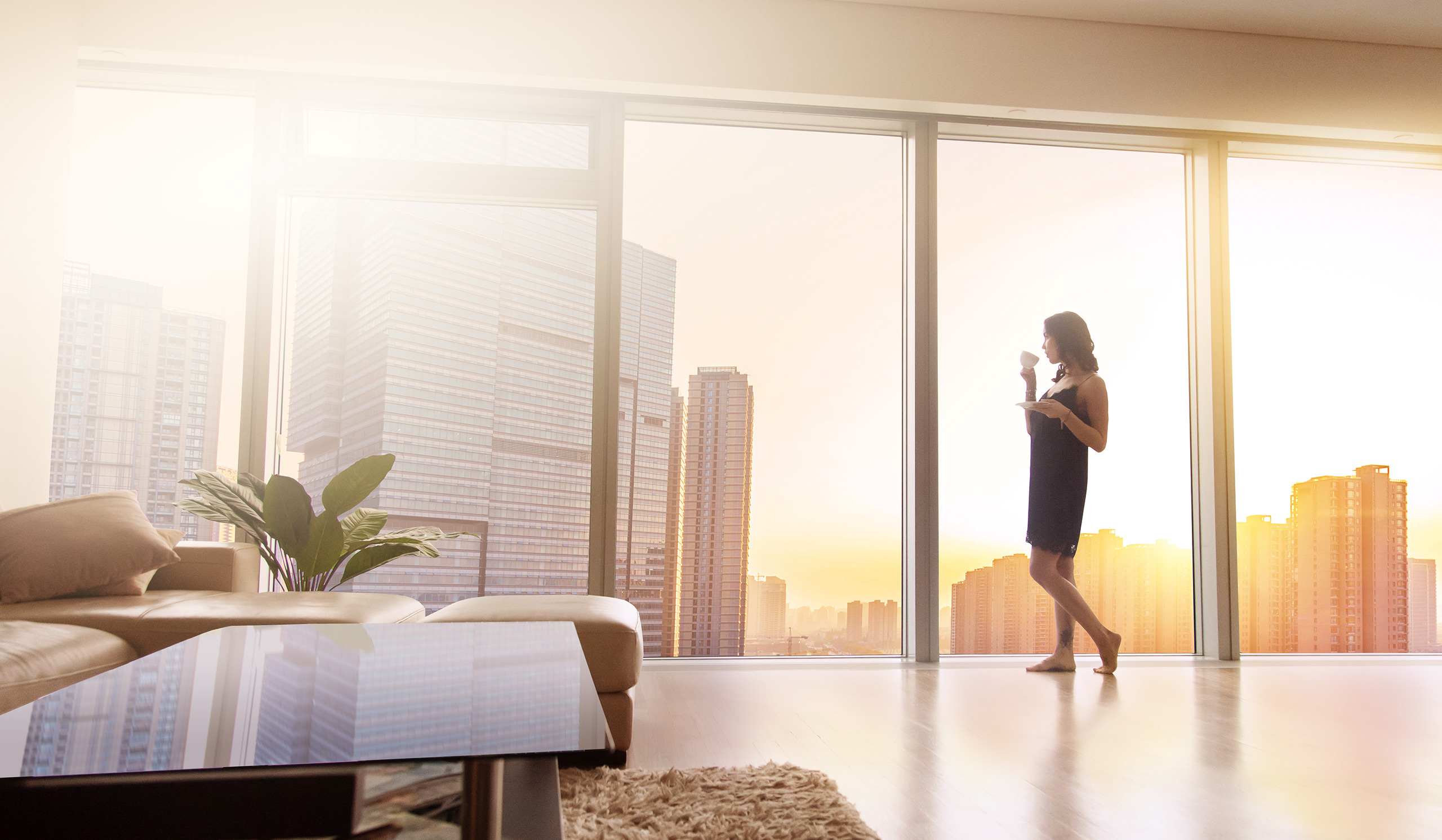 smarta hem inomhusmiljö