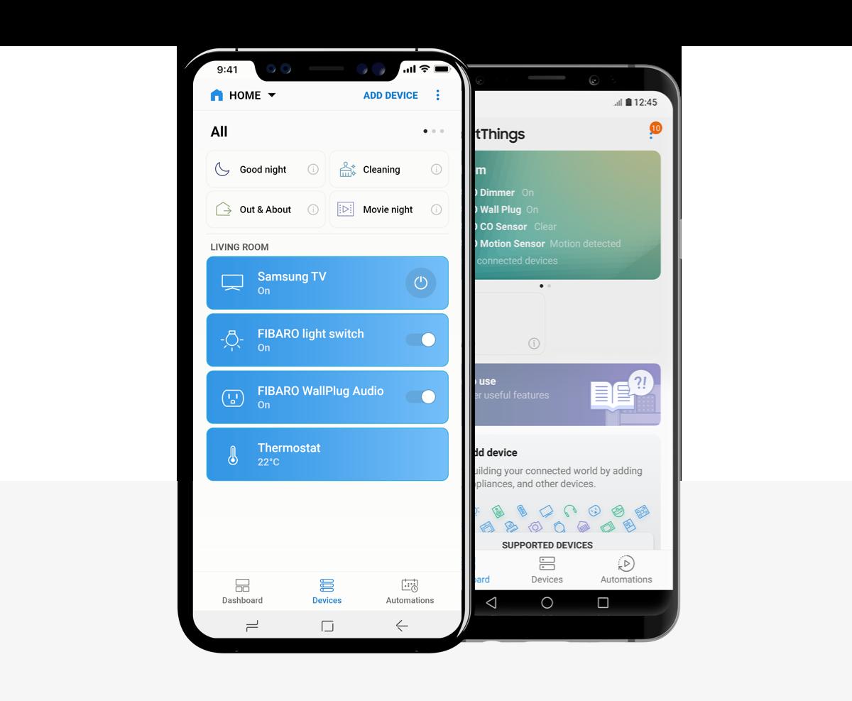 SmartThings mobile app